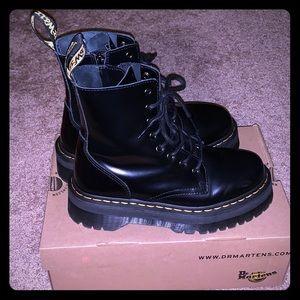 Black Leather Dr. Martens Jadon Boot